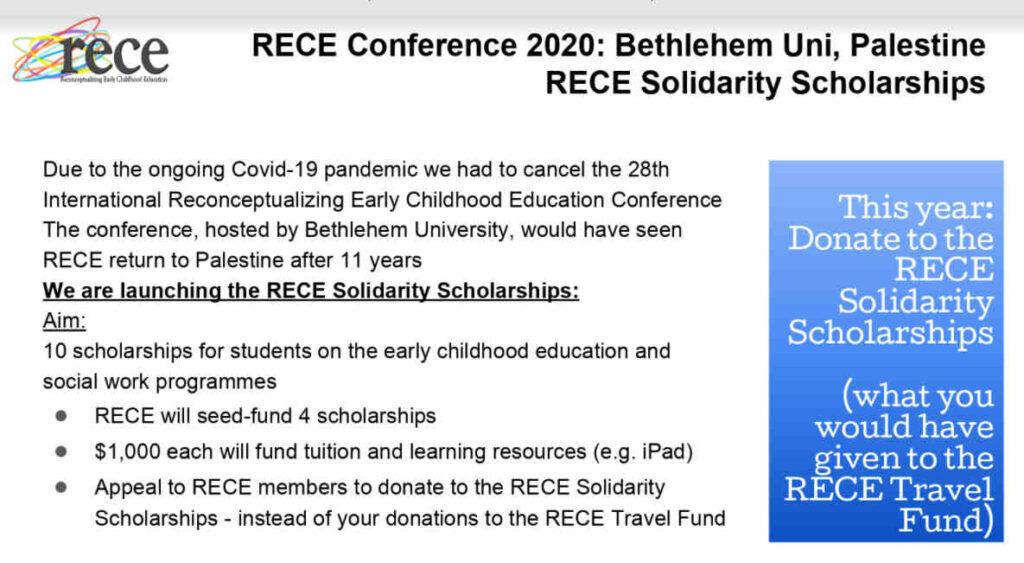 RECE Scholarship information